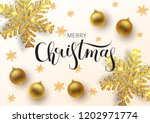 christmas greeting card  ... | Shutterstock .eps vector #1202971774