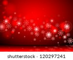 red background with snowflakes | Shutterstock . vector #120297241