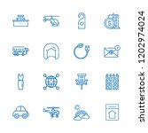 collection of 16 modern outline ... | Shutterstock .eps vector #1202974024