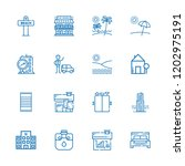 collection of 16 hotel outline... | Shutterstock .eps vector #1202975191