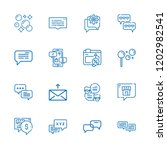 collection of 16 dialog outline ... | Shutterstock .eps vector #1202982541
