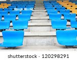 blue seat rows in stedium | Shutterstock . vector #120298291