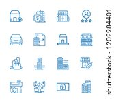 collection of 16 estate outline ... | Shutterstock .eps vector #1202984401