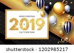 happy new 2019 year  shining... | Shutterstock .eps vector #1202985217