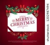 merry christmas design template ... | Shutterstock .eps vector #1202987494