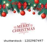 merry christmas design template ... | Shutterstock .eps vector #1202987497