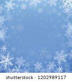 winter christmas background ... | Shutterstock .eps vector #1202989117
