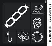 set of 6 summer outline icons...   Shutterstock .eps vector #1203000571