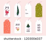 collection of christmas gift...   Shutterstock . vector #1203006037