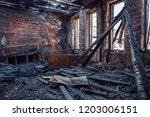 Burned House Interior After...
