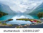 family vacation travel rv ... | Shutterstock . vector #1203012187