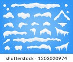 snow caps  snowballs and... | Shutterstock .eps vector #1203020974
