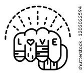 punch fist with love message | Shutterstock .eps vector #1203022594
