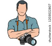 young photographer ... | Shutterstock .eps vector #1203022807