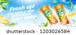 Refreshing Soft Drink Banner...