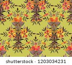 seamless watercolor pattern in... | Shutterstock . vector #1203034231