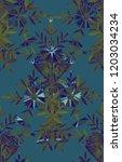 seamless watercolor pattern in... | Shutterstock . vector #1203034234
