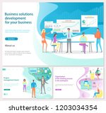 business solution development... | Shutterstock .eps vector #1203034354