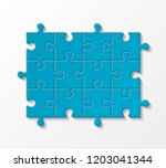 twelve sided 3d puzzle... | Shutterstock .eps vector #1203041344