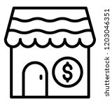 shop type building with dollar... | Shutterstock .eps vector #1203046351
