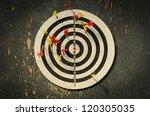 dart in dartboard | Shutterstock . vector #120305035