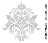 damask graphic ornament. floral ... | Shutterstock .eps vector #1203050881