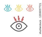 dry eye syndrome. vector sign... | Shutterstock .eps vector #1203057721