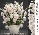 3d illustration bouquet of... | Shutterstock . vector #1203058861