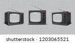 retro tv mockup pack on... | Shutterstock .eps vector #1203065521