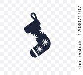 christmas sock transparent icon....   Shutterstock .eps vector #1203071107