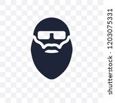 bald man face with beard and... | Shutterstock .eps vector #1203075331