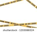 crime scene do not cross vector | Shutterstock .eps vector #1203088324