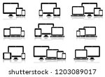 responsive digital devices... | Shutterstock .eps vector #1203089017