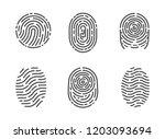 identification fingerprints... | Shutterstock .eps vector #1203093694