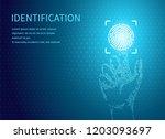identification fingerprints... | Shutterstock .eps vector #1203093697