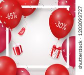 pretty sale promotional poster  ... | Shutterstock .eps vector #1203093727
