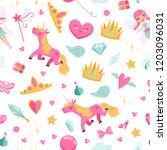 vector cute cartoon magic and...   Shutterstock .eps vector #1203096031