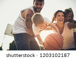 happy family. family with... | Shutterstock . vector #1203102187