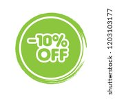 10  off sale discount banner... | Shutterstock .eps vector #1203103177