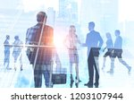 diverse business team members... | Shutterstock . vector #1203107944