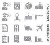customs icons. gray flat design.... | Shutterstock .eps vector #1203107977