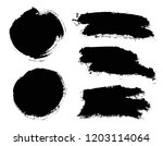 brush strokes. vector... | Shutterstock .eps vector #1203114064