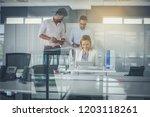 teamwork's.  business people in ... | Shutterstock . vector #1203118261