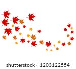 maple leaves logo and symbol | Shutterstock .eps vector #1203122554