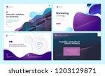 set of web page design... | Shutterstock .eps vector #1203129871