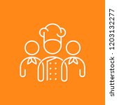 chef team icon line business... | Shutterstock .eps vector #1203132277