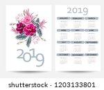 calendar 2019. colorful... | Shutterstock .eps vector #1203133801