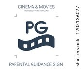 parental guidance sign icon.... | Shutterstock .eps vector #1203136027
