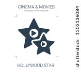 hollywood star icon. high... | Shutterstock .eps vector #1203136084