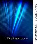 neon glowing wave  magic energy ... | Shutterstock .eps vector #1203137797